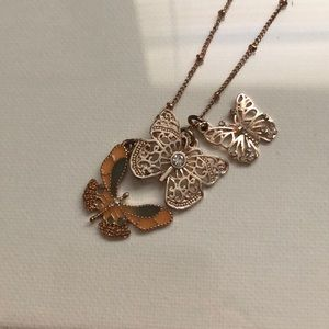 Mudd Long Butterfly Necklace